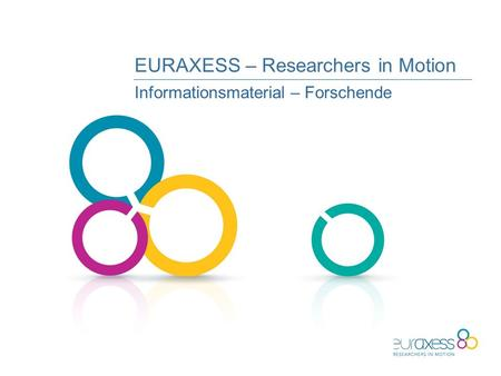 EURAXESS – Researchers in Motion Informationsmaterial – Forschende.
