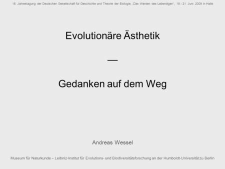 Evolutionäre Ästhetik