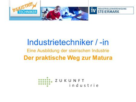 Industrietechniker / -in