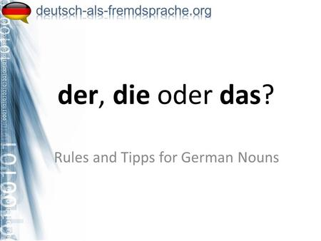 Rules and Tipps for German Nouns
