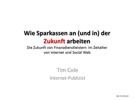 Tim Cole Internet-Publizist