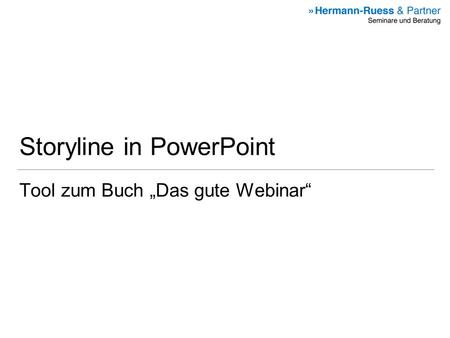 Storyline in PowerPoint