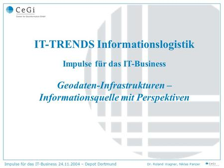IT-TRENDS Informationslogistik