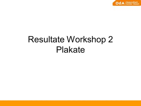 Resultate Workshop 2 Plakate