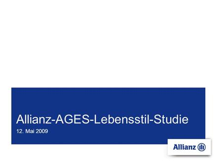 Allianz-AGES-Lebensstil-Studie