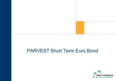 PARVEST Short Term Euro Bond. Okt. 2003 2 Überblick.