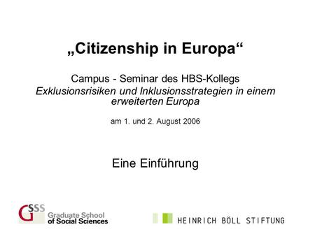 """Citizenship in Europa"""