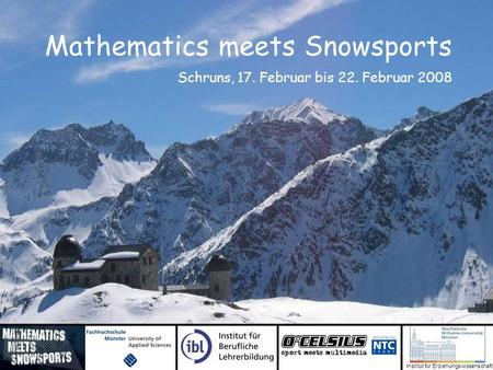 Mathematics meets Snowsports