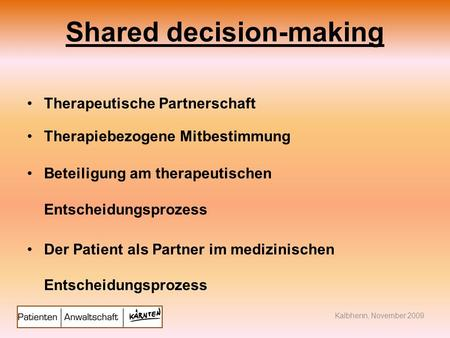 Shared decision-making
