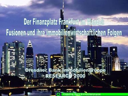 © RESEARCH 2000 Finanzplatz Frankfurt / Folie 2 Weltweites M & A-Volumen 1990-1998 in Billionen US-$