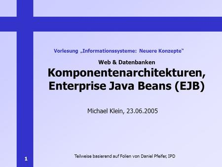 Komponentenarchitekturen, Enterprise Java Beans (EJB)