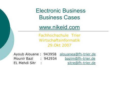 Electronic Business Business Cases