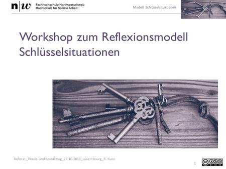 Workshop zum Reflexionsmodell Schlüsselsituationen