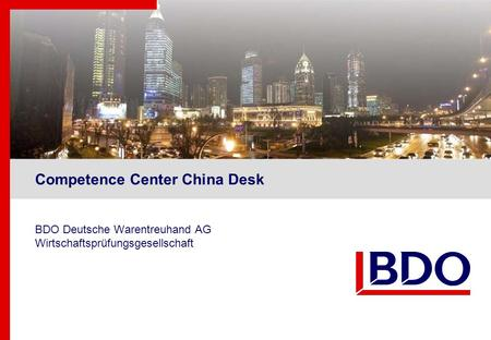 Competence Center China Desk