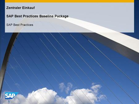 Zentraler Einkauf SAP Best Practices Baseline Package SAP Best Practices.