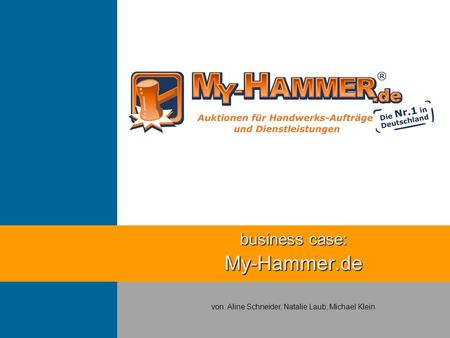 business case: My-Hammer.de