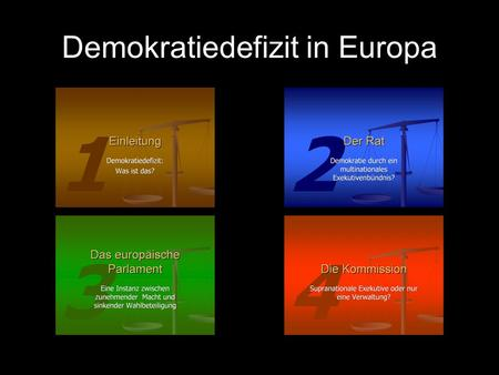 Demokratiedefizit in Europa