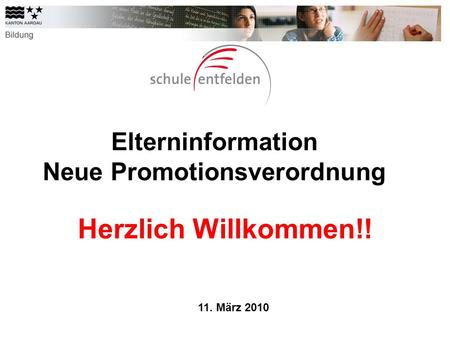 Elterninformation Neue Promotionsverordnung