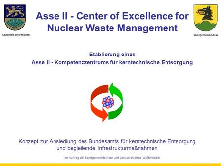 Asse II - Center of Excellence for Nuclear Waste Management