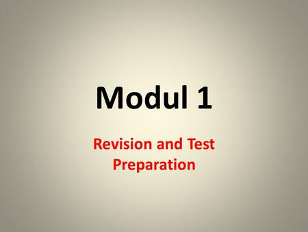 Modul 1 Revision and Test Preparation. Der Kugelschreiber.