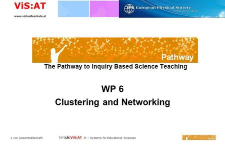 ViS:AT IT – Systems for Educational Purposes ViS:AT www.virtuelleschule.at 1 von Gesamtseitenzahl WP 6 Clustering and Networking.