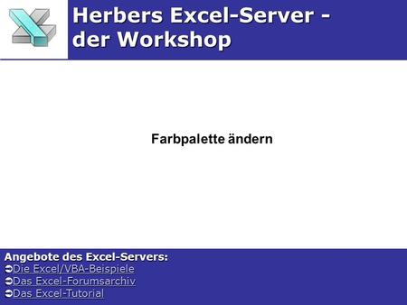 Herbers Excel-Server - der Workshop