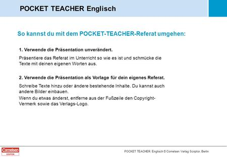 POCKET TEACHER Englisch