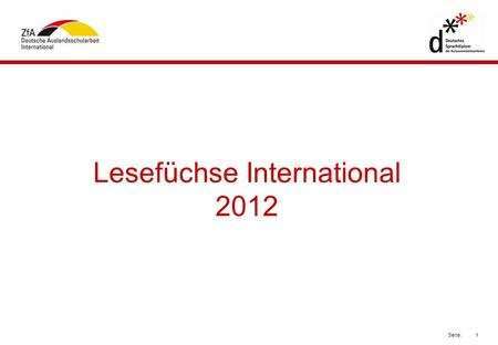Lesefüchse International 2012