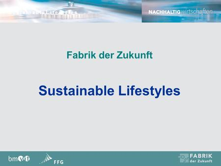 Sustainable Lifestyles