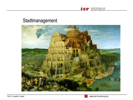 Stadtmanagement.