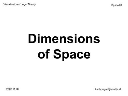 Dimensions of Space 2007 11 chello.at Visualization of Legal Theory Space 01.