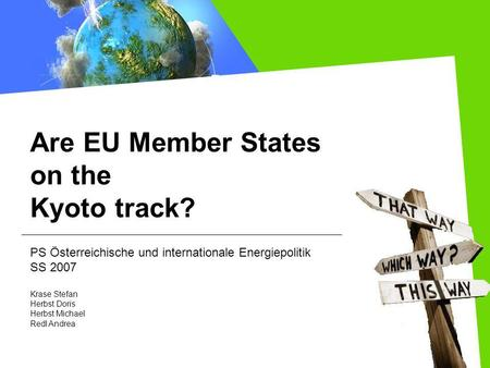 Are EU Member States on the Kyoto track?