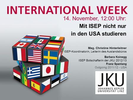 Was ist ISEP? steht für International Student Exchange Programs