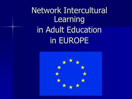 Network Intercultural Learning in Adult Education in EUROPE.