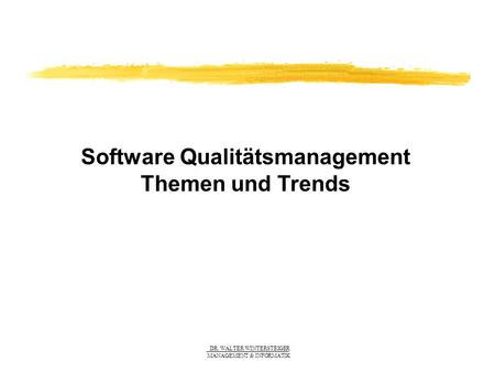 Software Qualitätsmanagement
