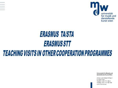 TEACHING VISITS IN OTHER COOPERATION PROGRAMMES