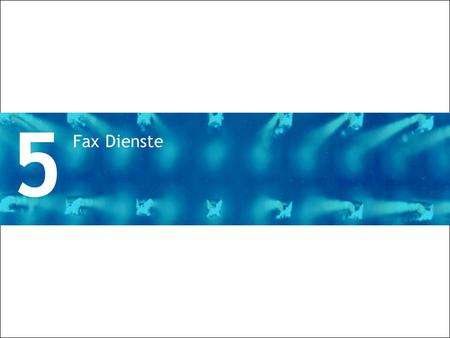 5 Fax Dienste Divider Section Break Pages