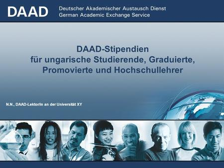 N.N., DAAD-Lektor/in an der Universität XY