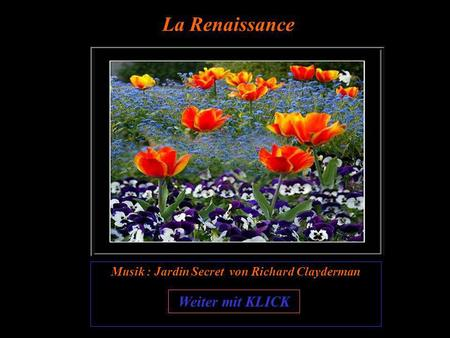 Musik : Jardin Secret von Richard Clayderman