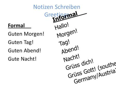 Notizen Schreiben Greetings