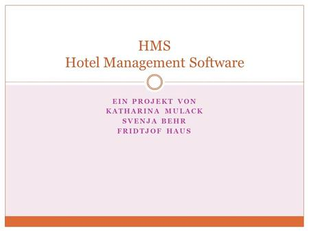 HMS Hotel Management Software