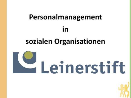 Personalmanagement in sozialen Organisationen