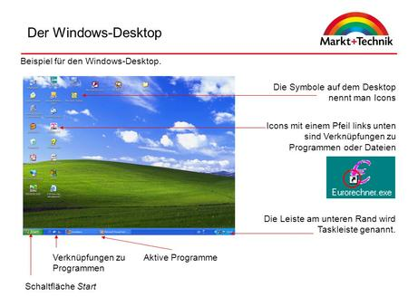 Der Windows-Desktop Beispiel für den Windows-Desktop.