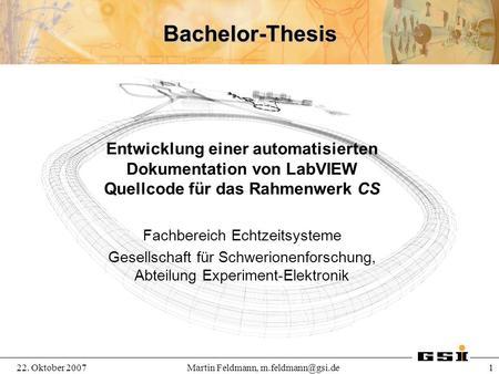 Stylesheet bachelor thesis