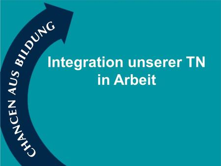 Integration unserer TN