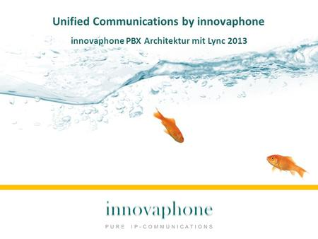 Unified Communications by innovaphone innovaphone PBX Architektur mit Lync 2013.