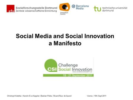 Social Media and Social Innovation a Manifesto