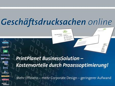 PrintPlanet – Präsentation BusinessSolution - 2012.