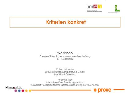 Kriterien konkret Workshop