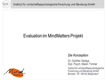 Evaluation im MindMatters Projekt